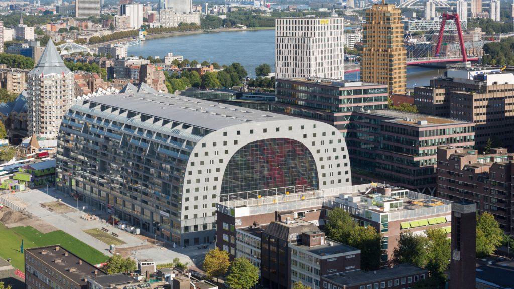 Kunststof dakbedekking Markthal Rotterdam