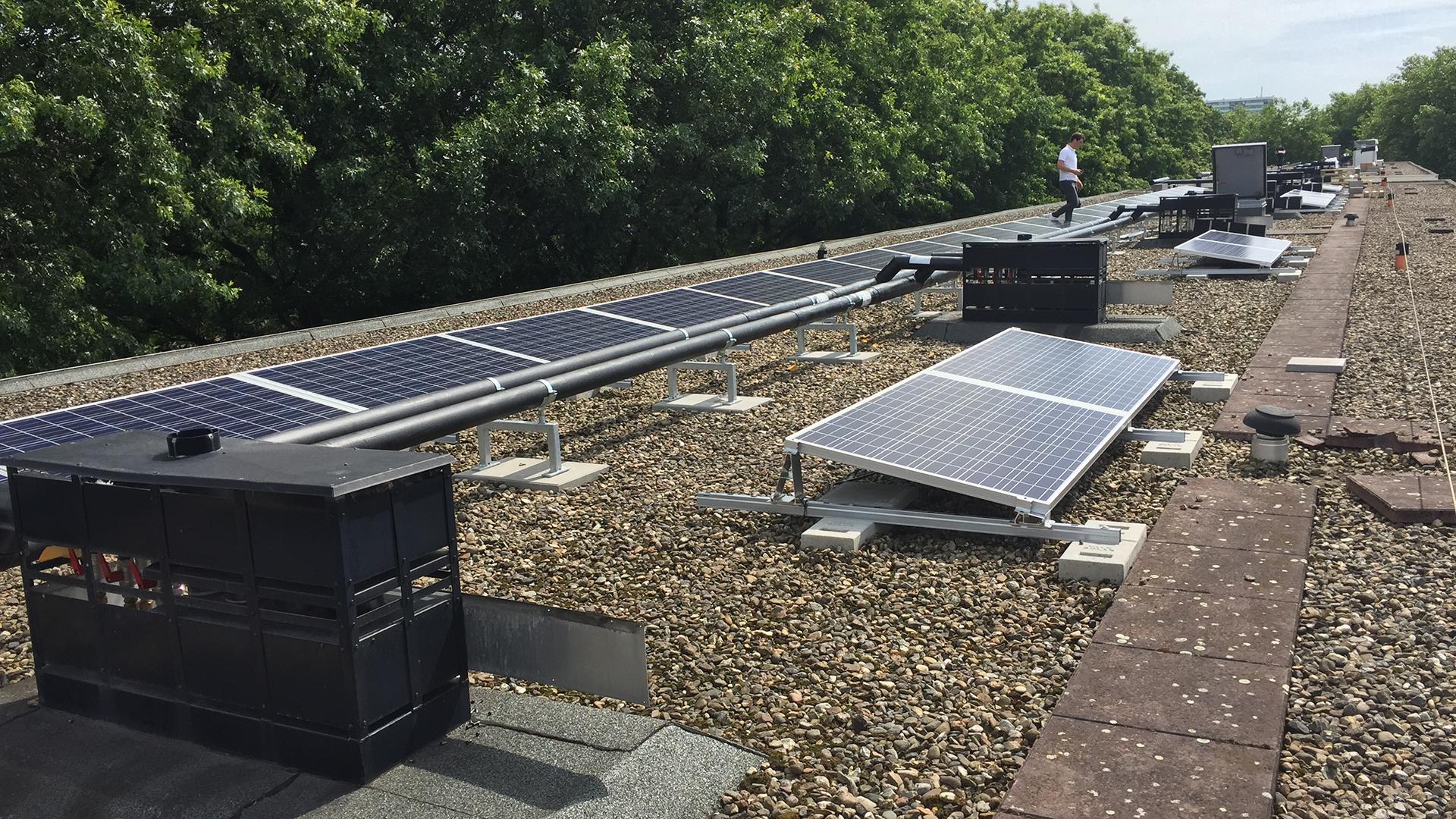 Zonne-energie voor portiekflats
